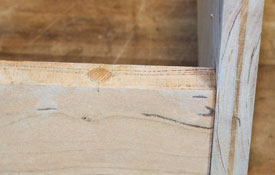 wood plug cut flush to surface