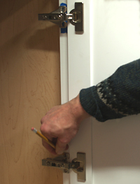 hinge installation final step