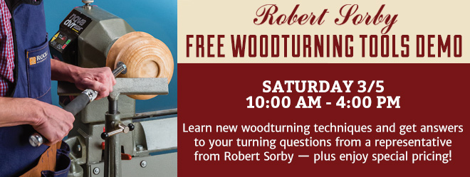 Robert Sordy - FREE Woodturning Tools Demo!